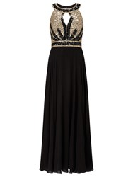 Phase Eight Collection 8 Anastasia Full Length Dress Black Gold