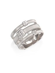Marco Bicego Masai Diamond And 18K White Gold Station Ring