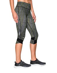 Under Armour Printed High Rise Leggings Black Yellow