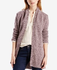 Levi's Belted Open Front Cardigan Plum