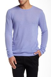 Autumn Cashmere Reverse Seam Cashmere Sweater Purple