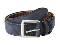 Torino Leather Co. Ital Calf Suede Navy Men's Belts
