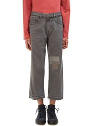 Olderbrother Patchwork Denim Pants Grey