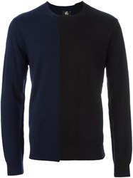 Paul Smith Ps By Two Tone Jumper Blue