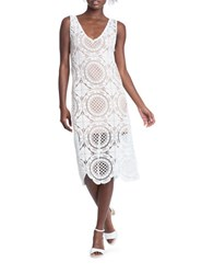 Tracy Reese Deconstructed Open Knit Shift Dress White