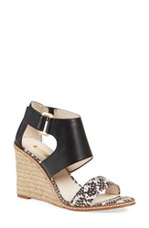 Women's Louise Et Cie 'Rocco' Wedge Sandal Black White