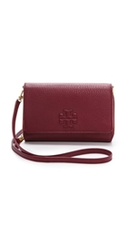 Tory Burch Thea Flat Wallet Cross Body Bag Cabernet