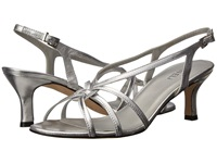 Vaneli Modesta Silver Metallic Nappa Women's Dress Sandals