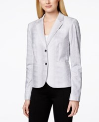 Calvin Klein Printed Two Button Notched Collar Jacket
