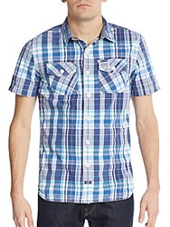 Superdry Washbasket Gingham Sportshirt Blue