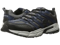 Skechers Stamina Plus Rappel Navy Gray Men's Lace Up Casual Shoes Blue