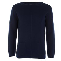 Oliver Spencer Men's Cabana Crew Neck Knitted Jumper Navy