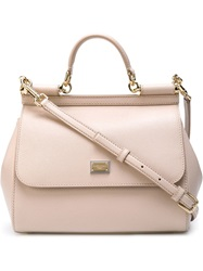 Dolce And Gabbana Medium 'Sicily' Tote Nude And Neutrals
