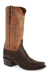 Men's Lucchese 'Ferris' Western Boot Jurassic Brown Tan Burnished