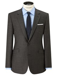 John Lewis Super 100S Wool Milled Textured Weave Tailored Suit Jacket Grey
