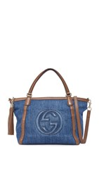 Wgaca Gucci Soho Tote Previously Owned Blue