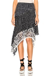 Preen Line Kendal Pompoms Skirt In Black Checkered And Plaid Black Checkered And Plaid