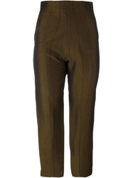 Romeo Gigli Vintage High Waist Trousers Brown