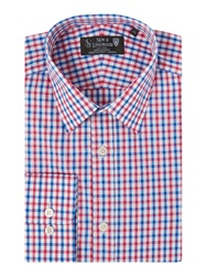 New And Lingwood Carisle Two Colour Check Cotton Shirt Pink