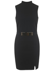 Miss Selfridge Wrap Dress Black
