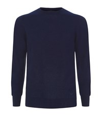 Emporio Armani Crew Neck Cashmere Knit Male Navy