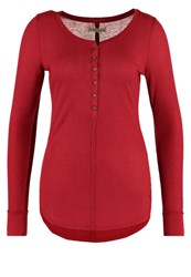 Abercrombie And Fitch Long Sleeved Top Rhubarb Bordeaux