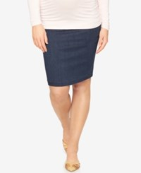A Pea In The Pod Maternity Denim Pencil Skirt Rinse Wash