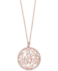 Effy Collection Effy Diamond Vine Pendant Necklace 9 10 Ct. T.W. In 14K Rose Gold