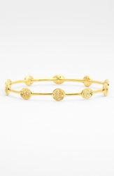 Melinda Maria Mini Pod Pave Bangle Gold Clear