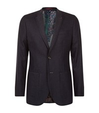 Ted Baker Clooney Diamond Weave Jacket Male Blue
