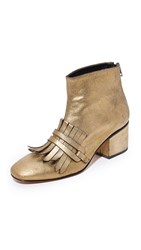 Rachel Comey Bevi Booties Old Gold Metallic