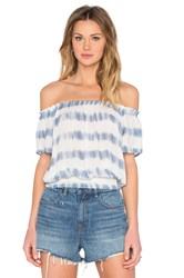 Amuse Society La Rue Crop Top Blue