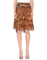 Antik Batik Skirts Knee Length Skirts Women Brown