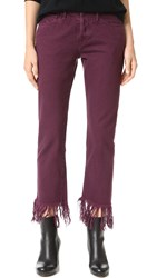 3X1 Wm3 Crop Fringe Jeans Mulberry