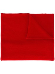 Allude Knit Scarf Red