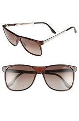 Carrera Men's Eyewear 57Mm Polarized Sunglasses Brown Gradient Silver Metal Brown Gradient Silver Metal