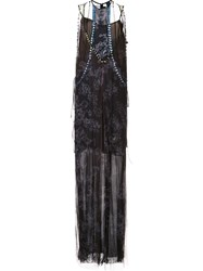 Vera Wang Crystal Embellished Gown Black