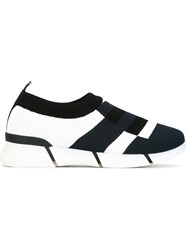 Stella Mccartney Knitted Colour Block Sneakers Multicolour