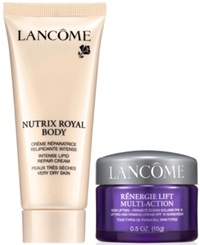 Lancome Choose A Free Body Lotion Or Renergie Sample With 35 Lancome Purchase