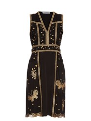 Diane Von Furstenberg Tyche Dress Black Gold