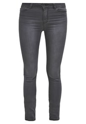 Vero Moda Vmseven Slim Fit Jeans Dark Grey Denim Dark Gray
