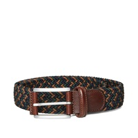 Andersons Anderson's Woven Textile Belt Brown And Navy