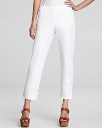 Eileen Fisher Organic Stretch Cotton Twill Slim Ankle Pants White