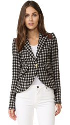 Smythe One Button Blazer Black Check