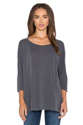 Splendid Vintage Whisper 3 4 Sleeve Tee Gray