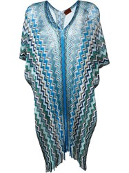 Missoni Semi Sheer Chevron Kaftan Blue