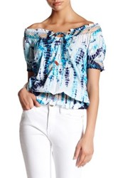 Chaudry Short Sleeve Print Blouse Multi