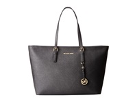 Michael Michael Kors Jet Set Travel Medium Top Zip Mult Funt Tote Black Tote Handbags