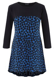 Grace Made In Britain Spot Tunic Blue