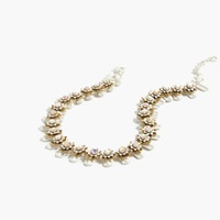 J.Crew Flower Stone Necklace White